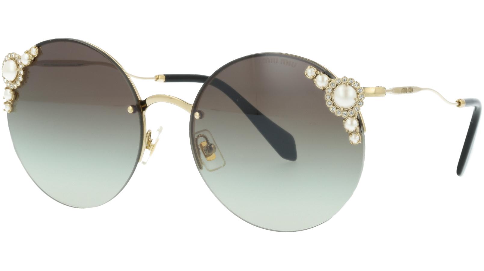 MIU MIU MU52TS VW75O0 60 Grey Pearl Sunglasses