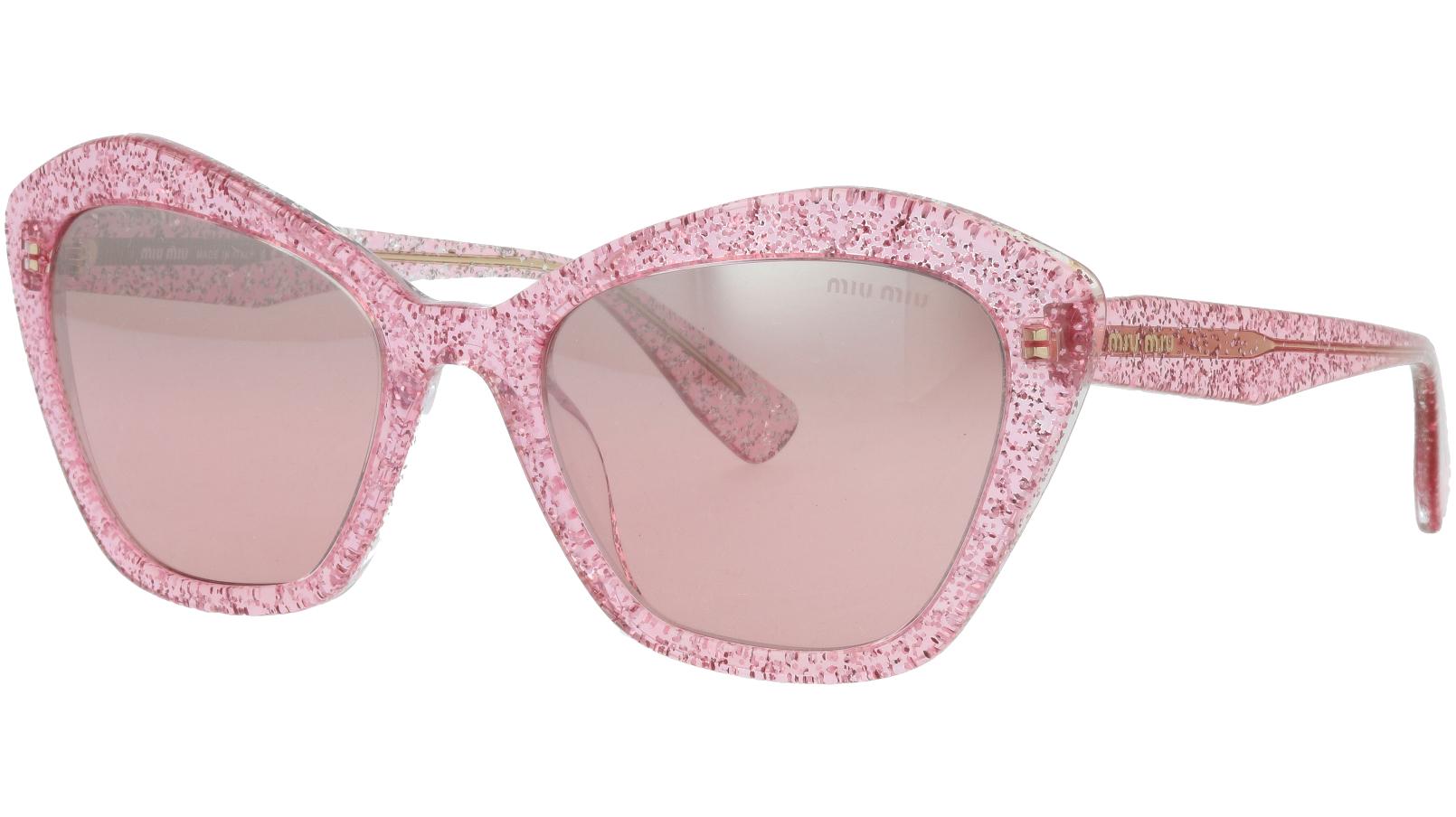 MIU MIU MU05US 1467L1 55 Pink Glitter Sunglasses