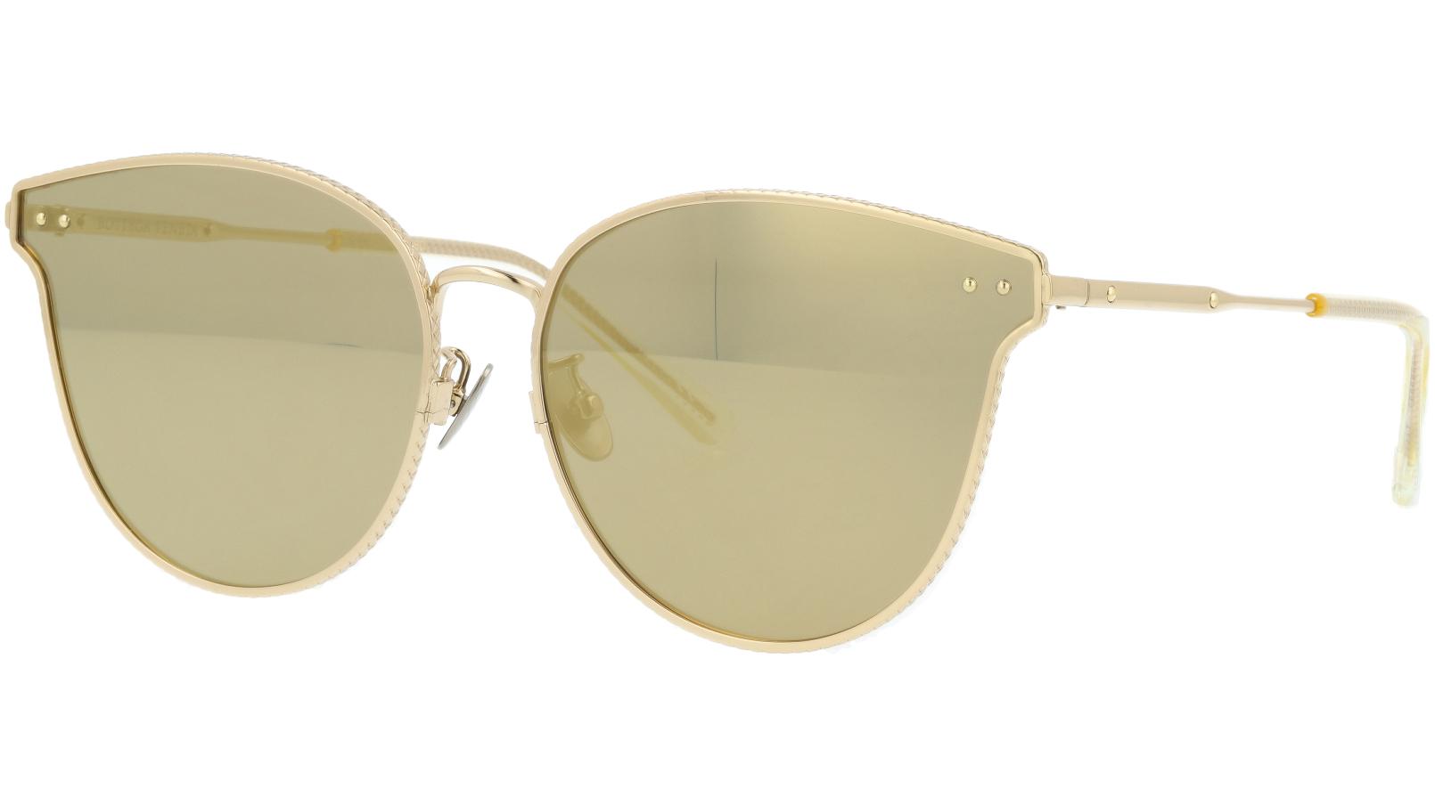 BOTTEGA VENETA BV0157SK 004 63 GOLD Sunglasses