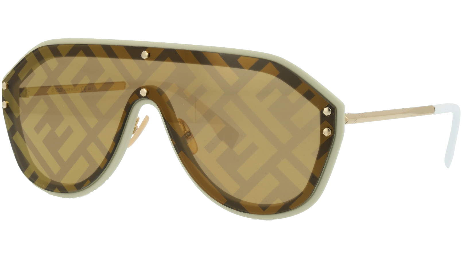 FENDI FFM0039/G/S 10A7Y 99 Beige Shield Sunglasses