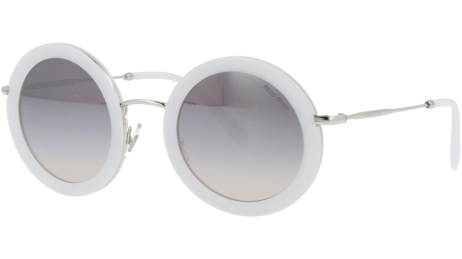 Miu Miu MU59US 133GR0 48 White Round Sunglasses