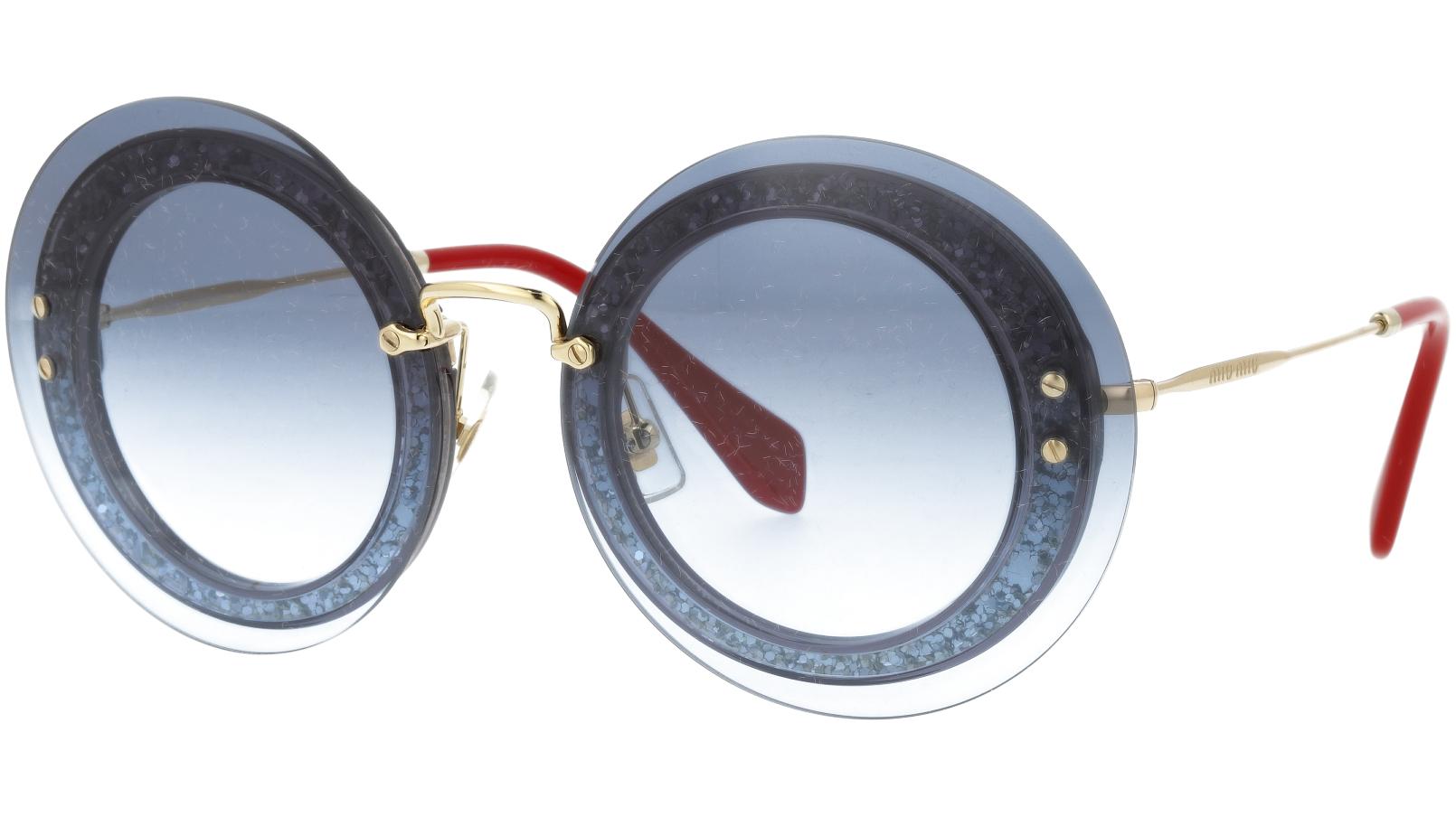 MIU MIU MU10RS UES4R2 64 Blue Round Sunglasses