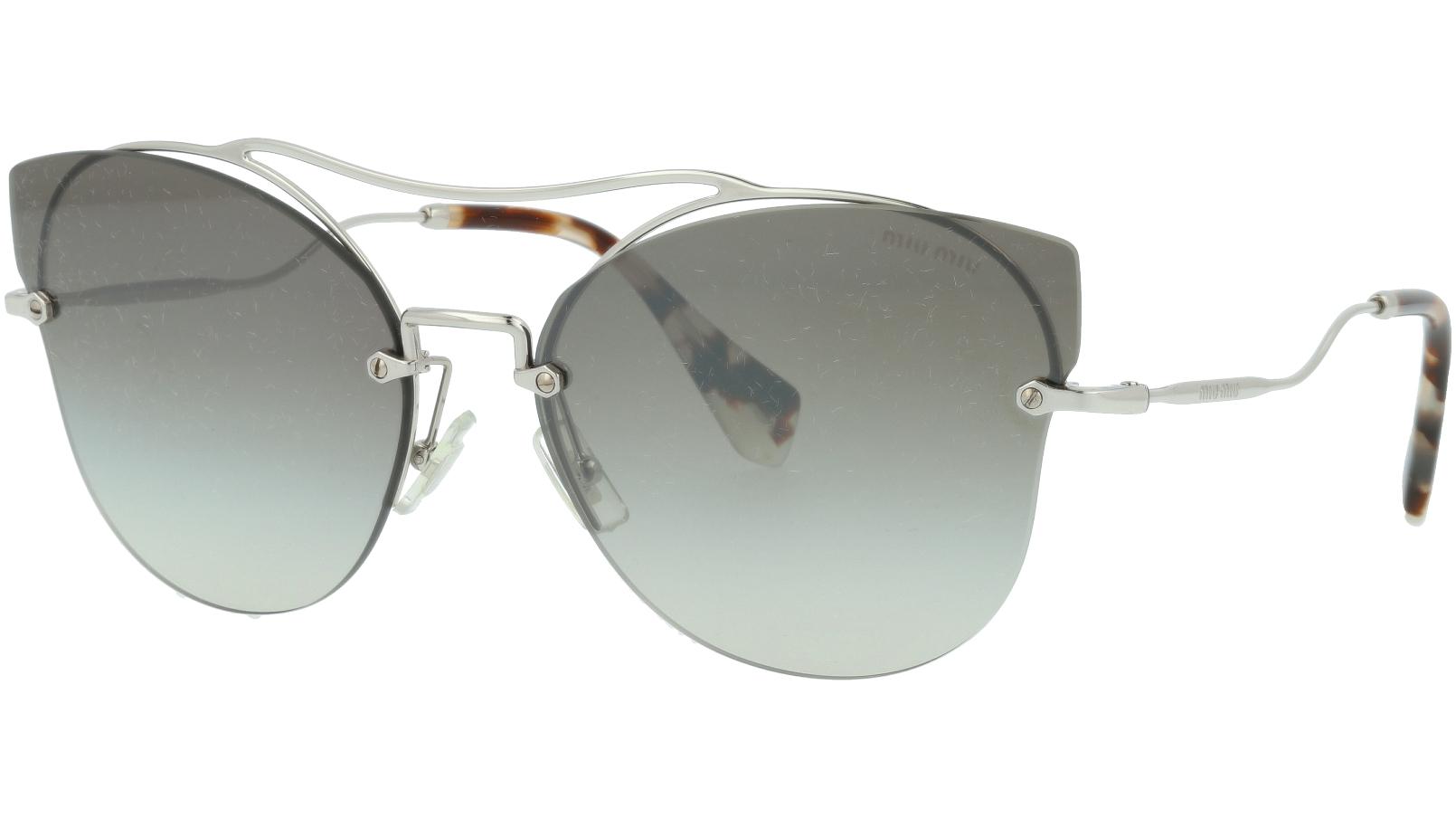 MIU MIU MU52SS 1BC5O0 62 Grey Cat-Eye Sunglasses
