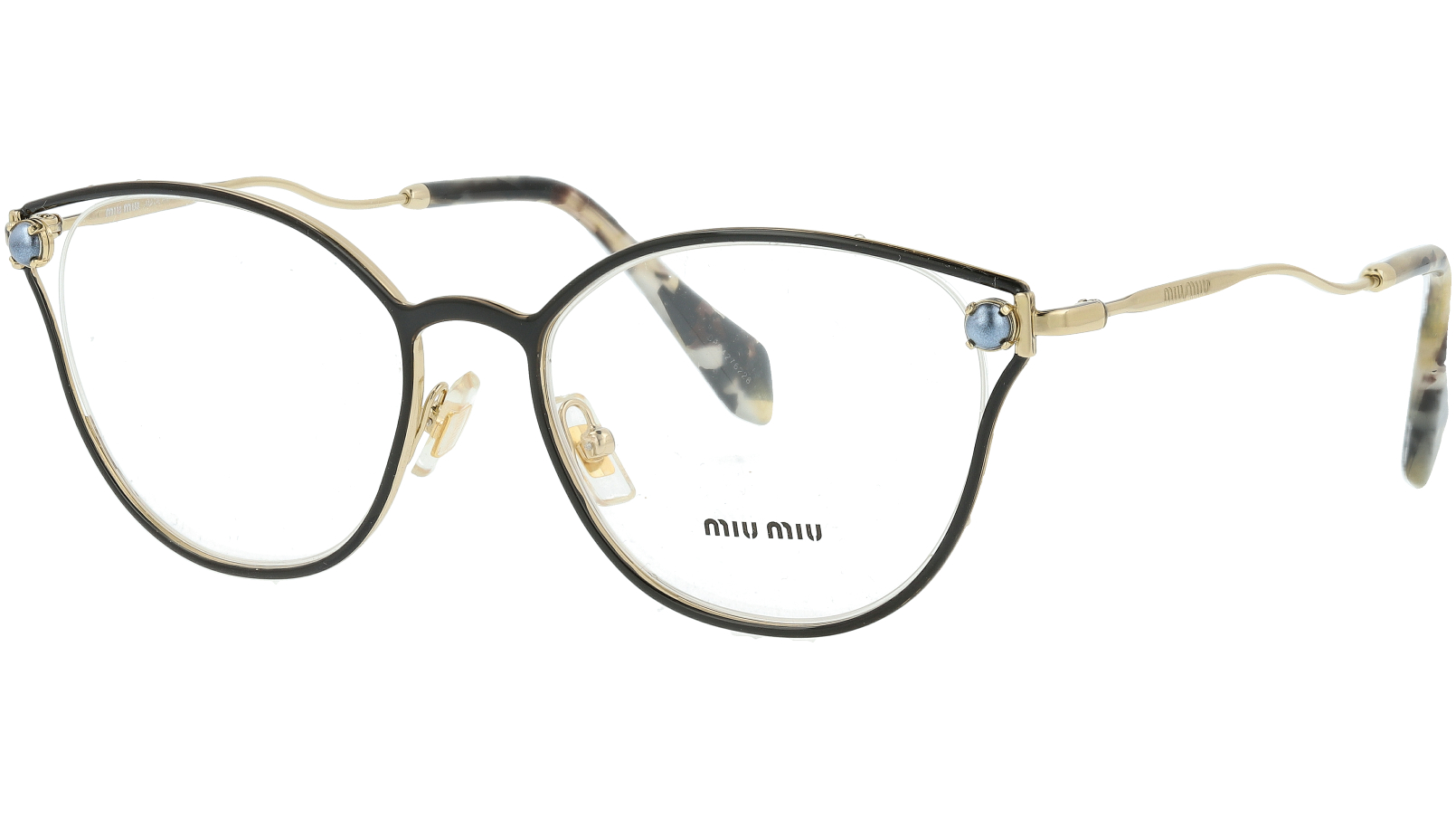 MIU MIU MU53QV 1AB1O1 52 BLACK Glasses