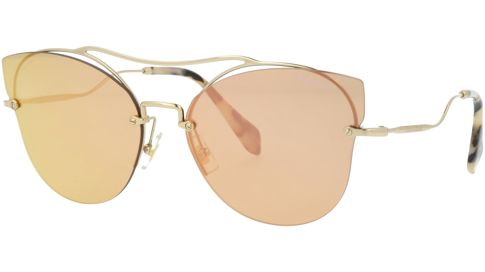 MIU MIU MU52SS ZVN6S0 62 Pink Cat-Eye Sunglasses