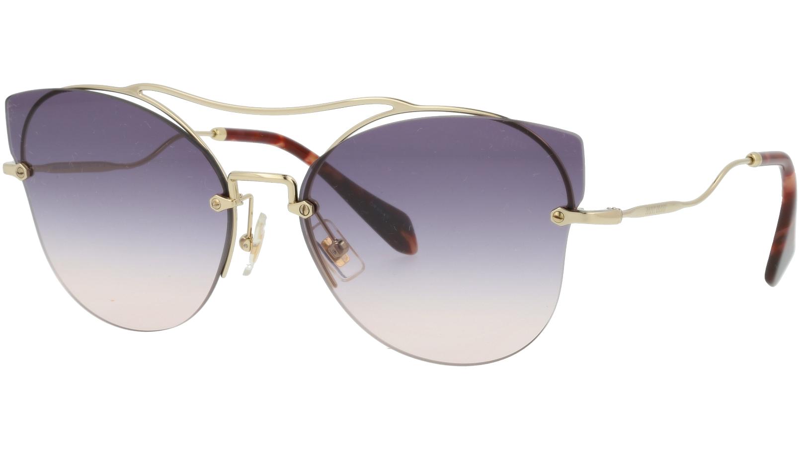 MIU MIU MU52SS ZVNGR0 62 Violet Cat-Eye Sunglasses
