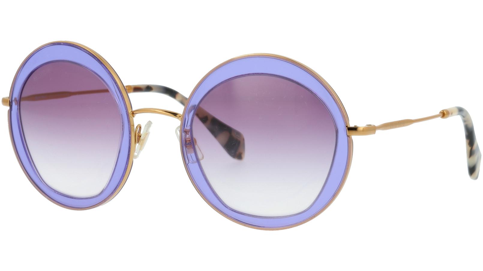 MIU MIU MU50QS TIF4W1 52 Purple Round Sunglasses