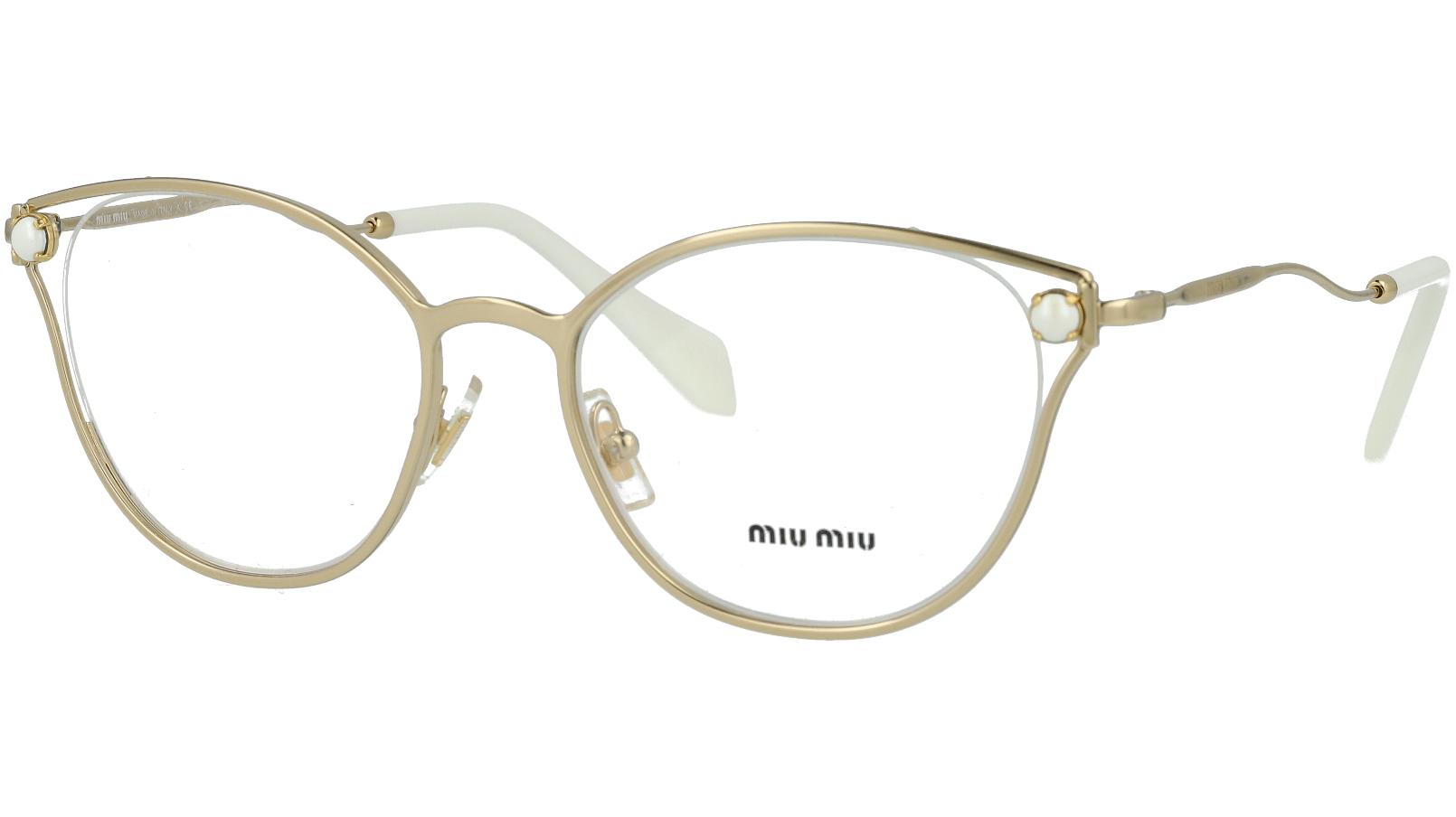 MIU MIU MU53QV ZVN1O1 52 GOLD Glasses