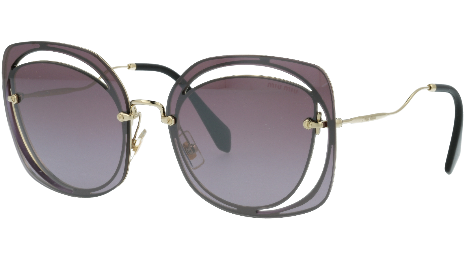 MIU MIU MU54SS ZVNAD6 64 PURPLE Sunglasses