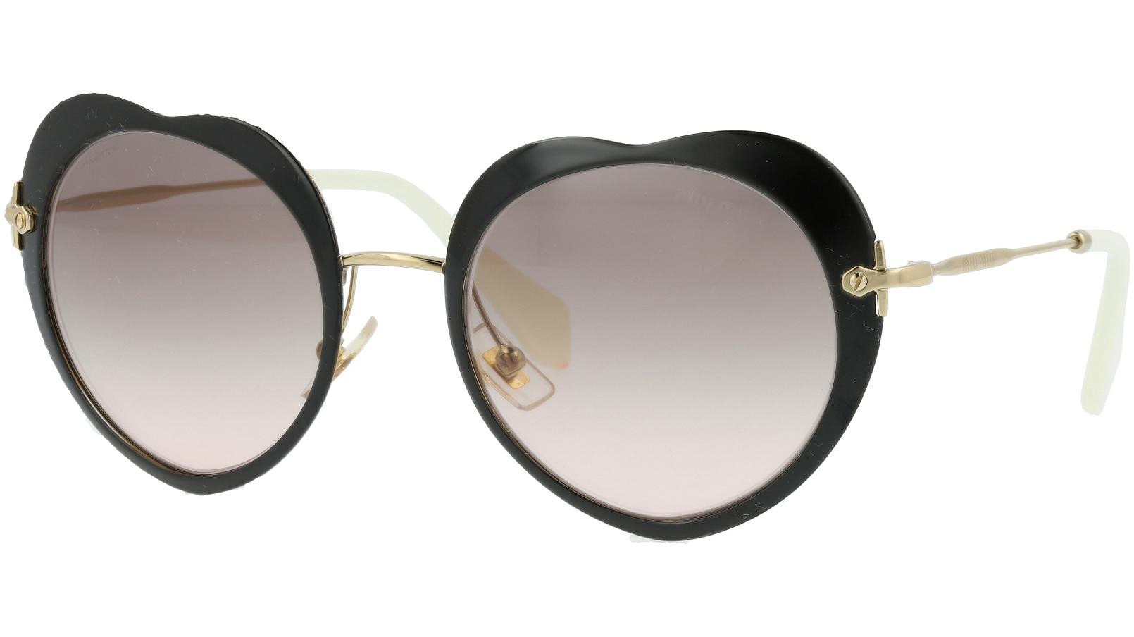 Miu Miu MU54RS 1AB4K0 52 Black Heart Sunglasses