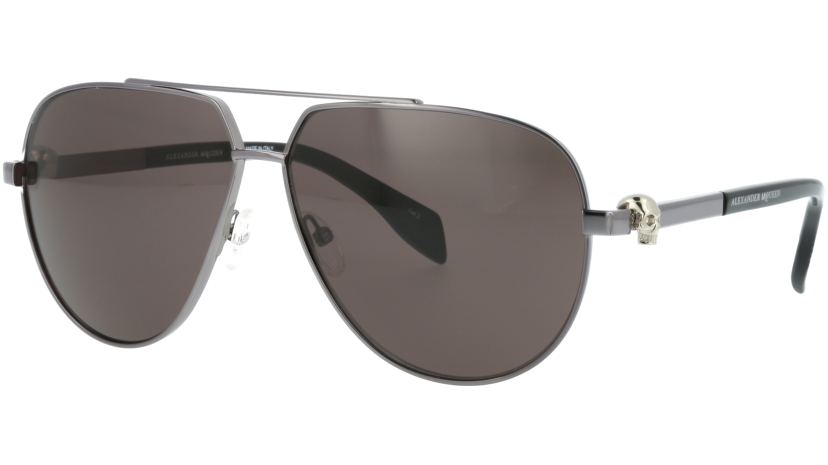ALEXANDER MCQUEEN AM0018SA 008 63 RUTHENIUM Sunglasses