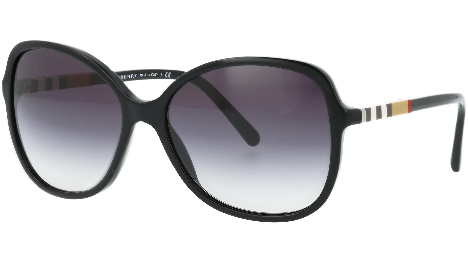 BURBERRY BE4197 3001/8G 58 BLACK Sunglasses