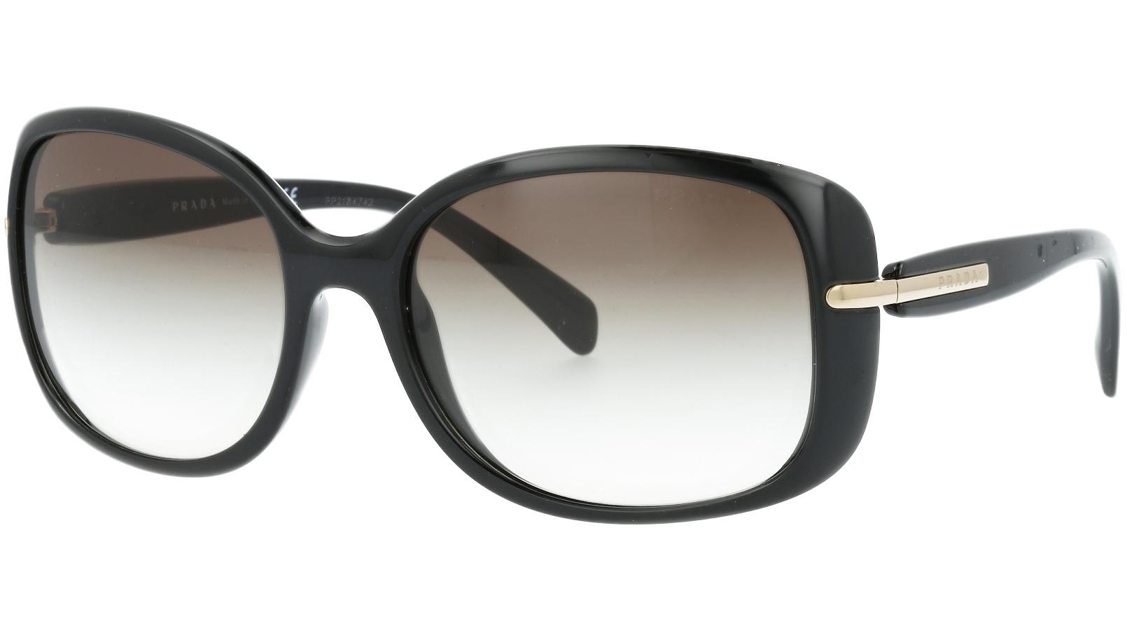 Prada PR08OS 1AB0A7 57 Black Sunglasses