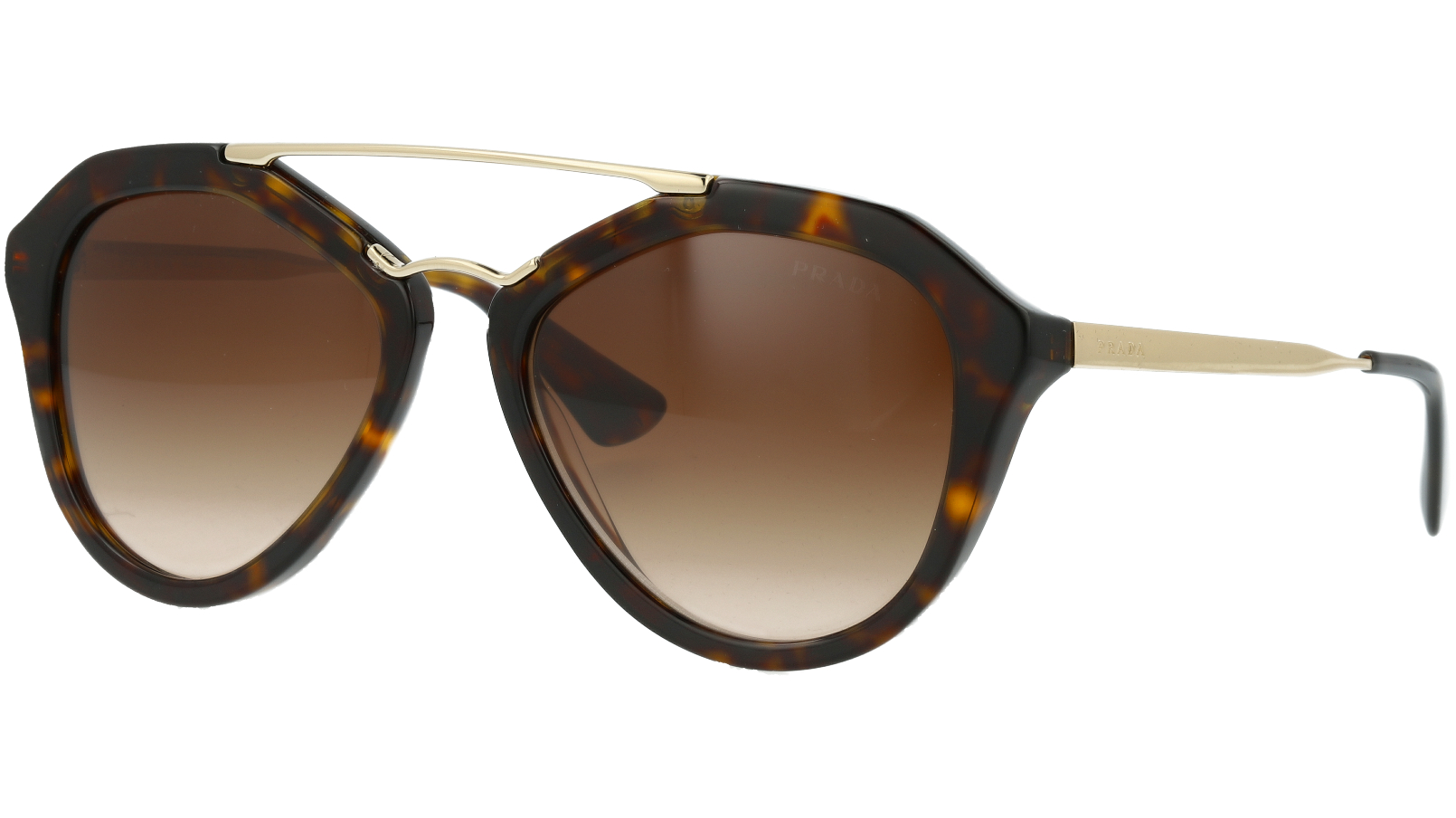 Prada PR12QS 2AU6S1 54 Havana Sunglasses
