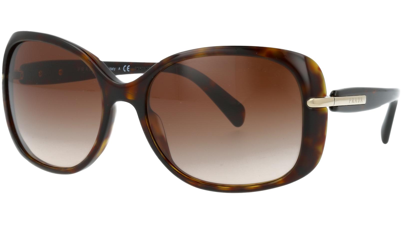 Prada PR08OS 2AU6S1 57 Havana Sunglasses