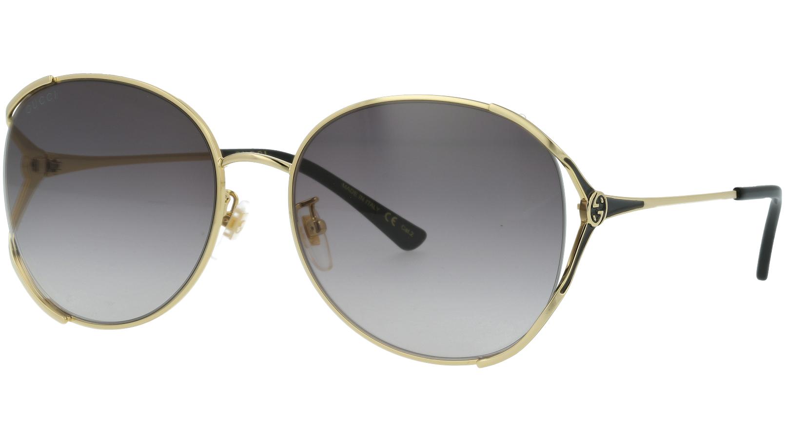 Gucci GG0650SK 001 59 Gold Oval Sunglasses
