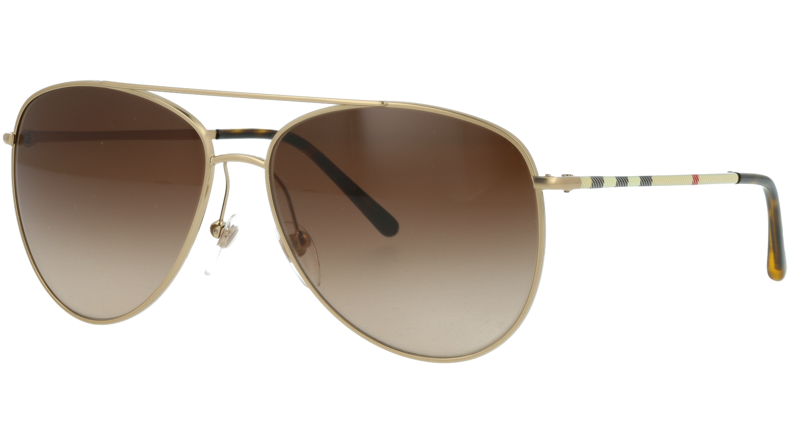 BURBERRY BE3072 118913 57 GOLD Sunglasses