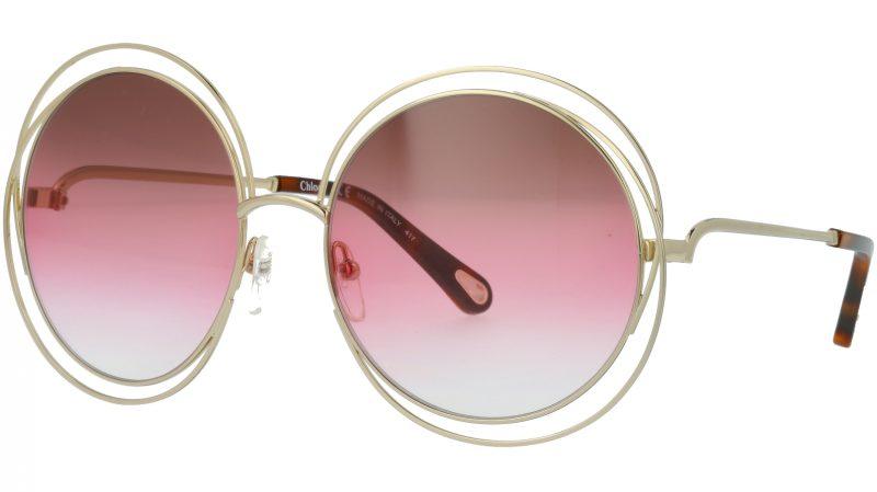 Chloé CE114SD 813 58 Gold Round Sunglasses