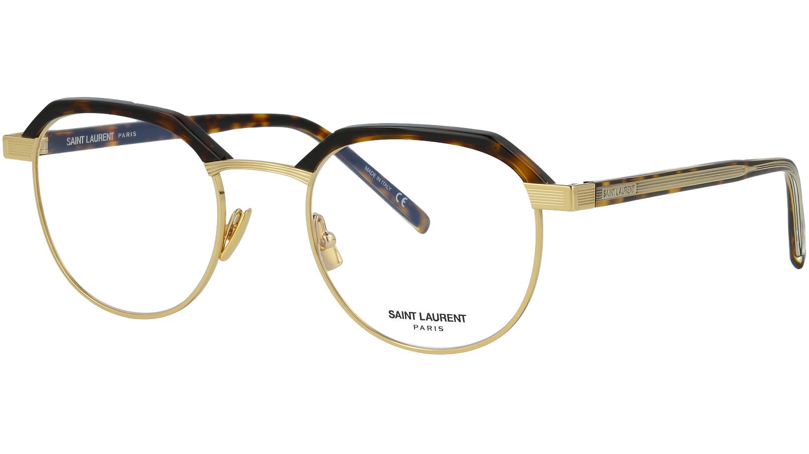 Saint Laurent SL124 003 50 Avana Glasses
