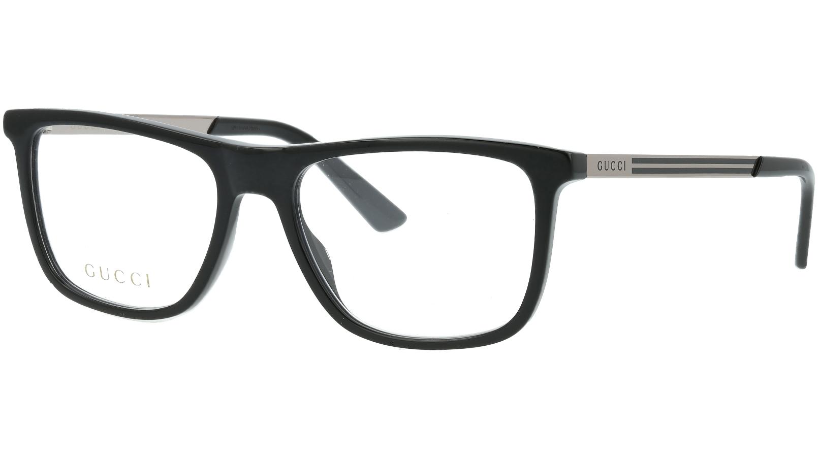 Gucci GG0691O 001 54 Black Rectangle Glasses