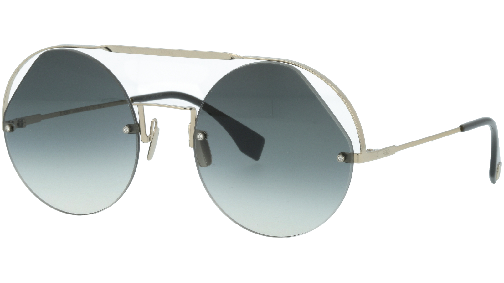 FENDI FF0325/S KB790 56 Grey Silver Round Sunglasses