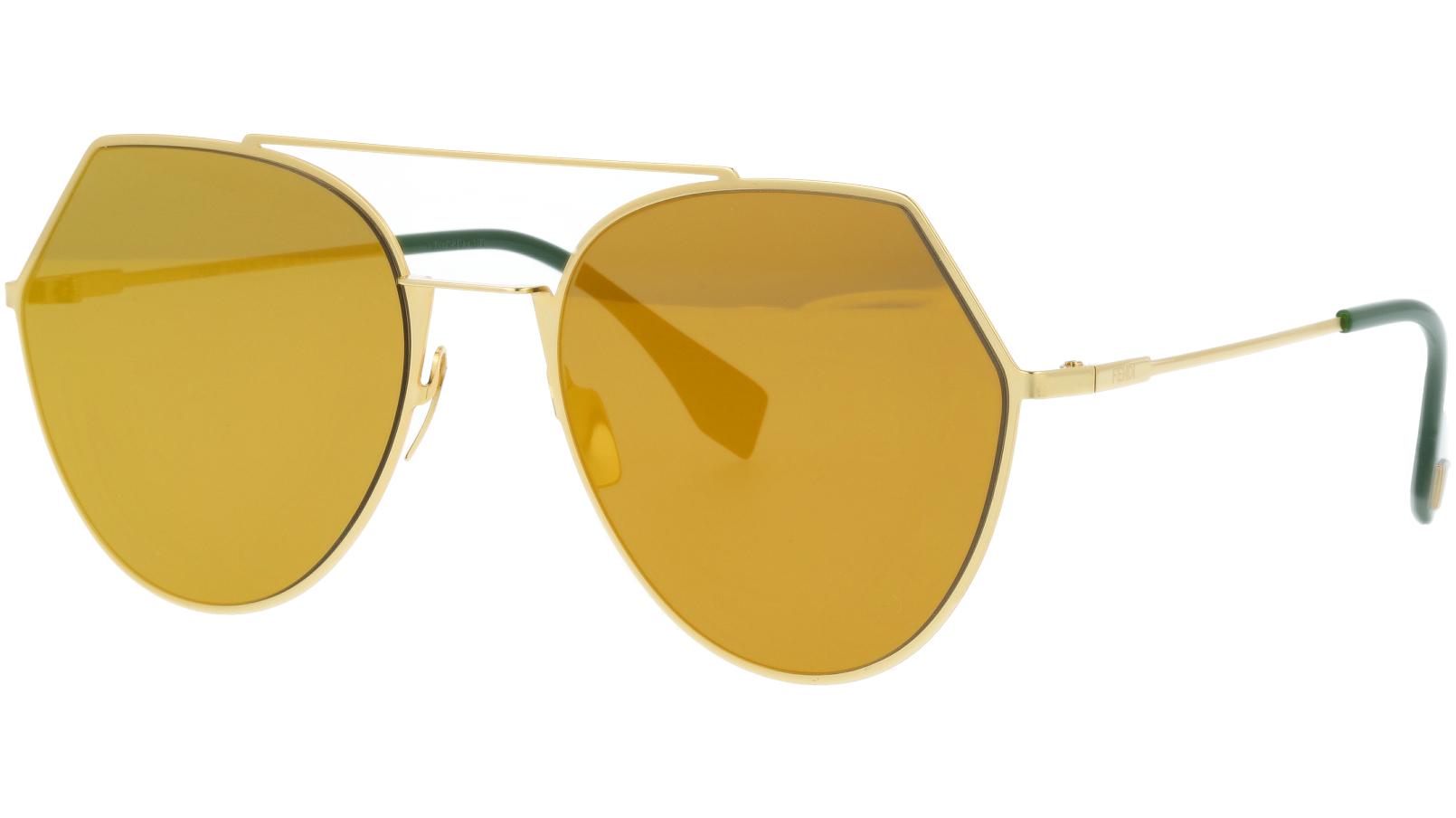 FENDI FF0194/S 00183 55 Yellow Gold Rim Sunglasses