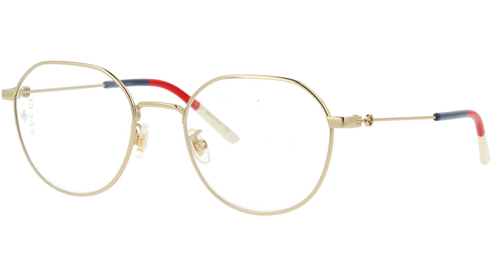 Gucci GG0684O 003 51 Gold Oval Glasses