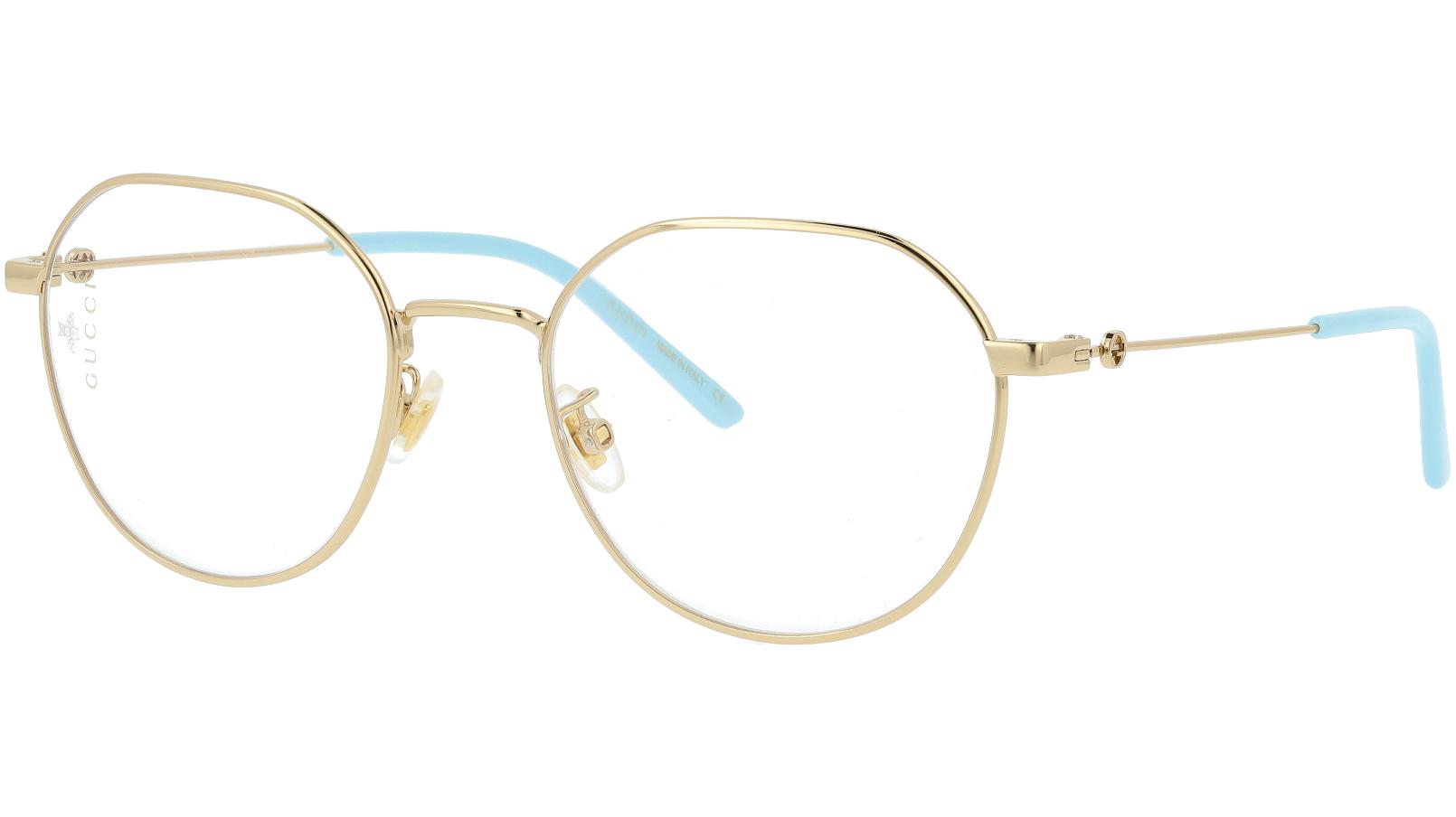 Gucci GG0684O 004 51 Gold Oval Glasses