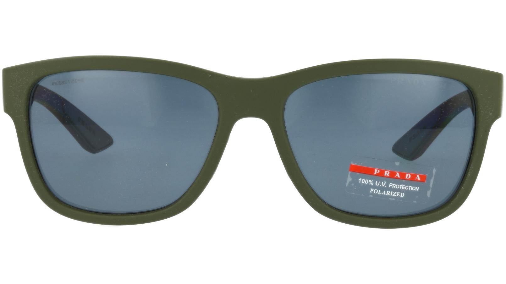 PRADA LINEA ROSSA PS03QS UBW5Z1 57 GREEN Sunglasses