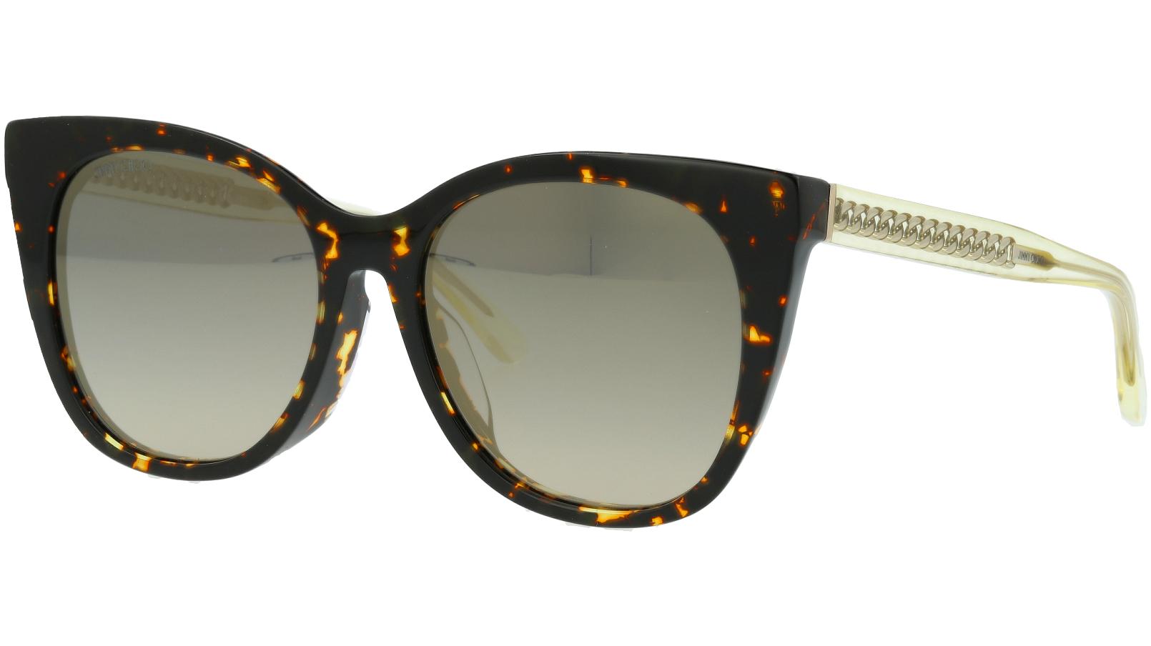 JIMMY CHOO ALENA/F/S HJVFQ 54 BROWN Sunglasses