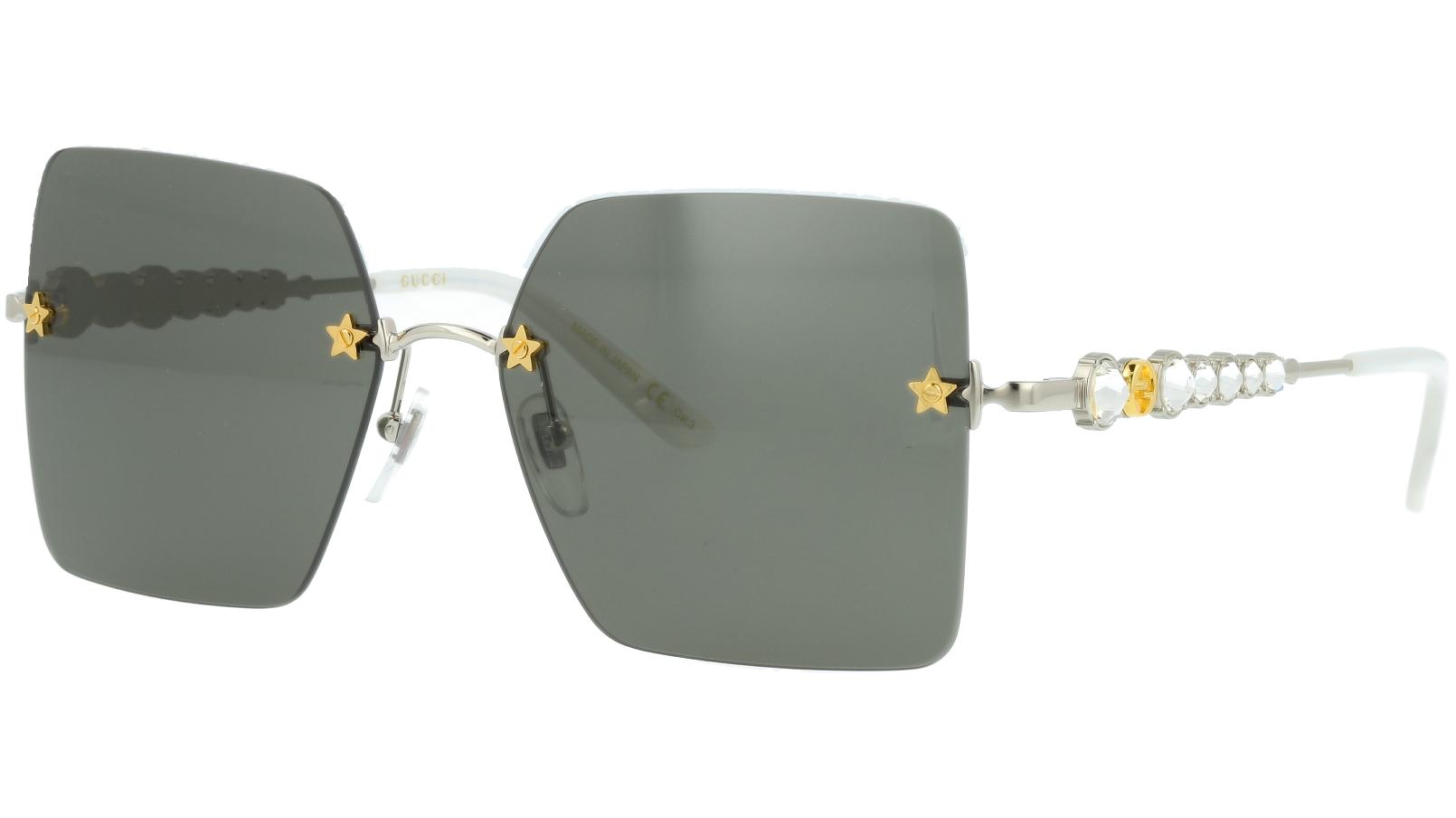 Gucci GG0644S 001 56 Silver Sunglasses