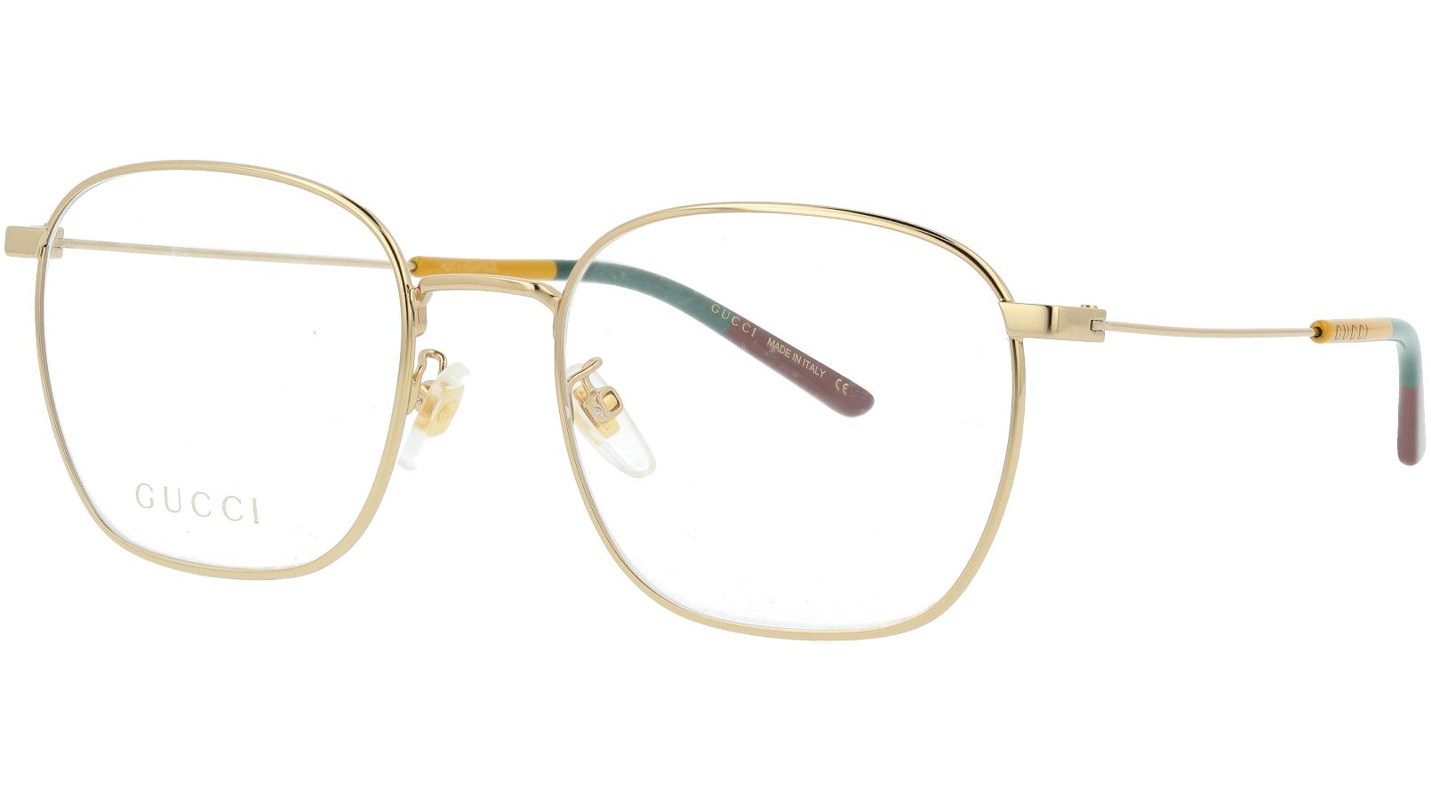 Gucci GG0681O 004 54 Gold Square Glasses