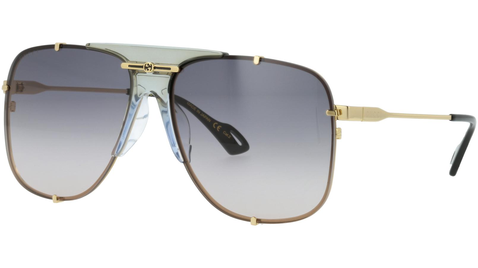 Gucci GG0739SA 001 63 Gold Sunglasses