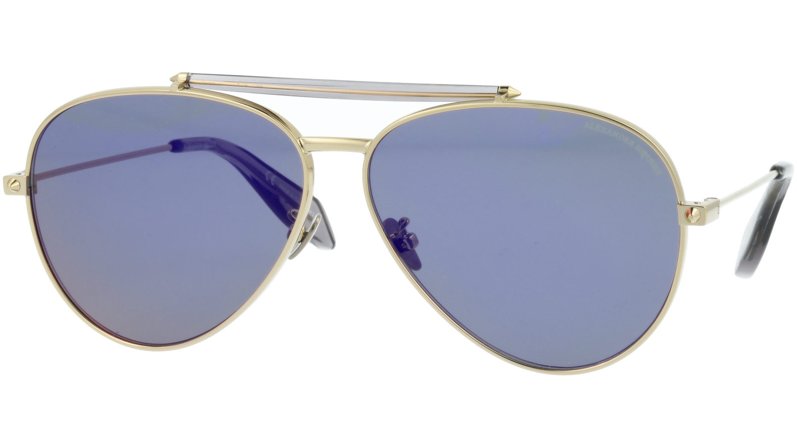 ALEXANDER MCQUEEN AM0057S 004 52 GOLD Sunglasses