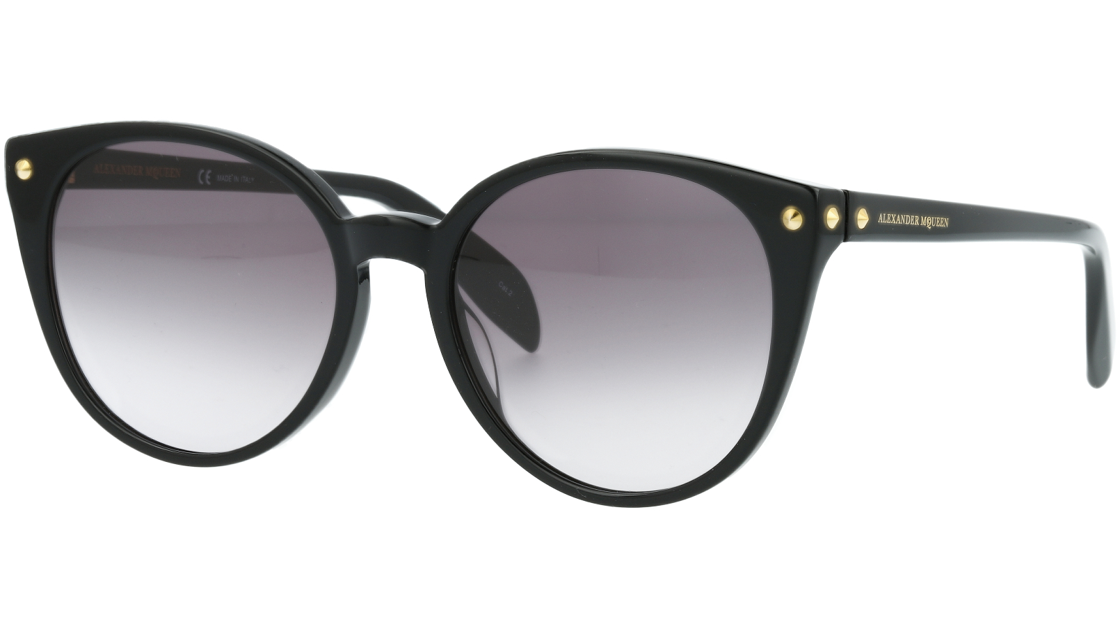 ALEXANDER MCQUEEN AM0130S 001 55 BLACK Sunglasses