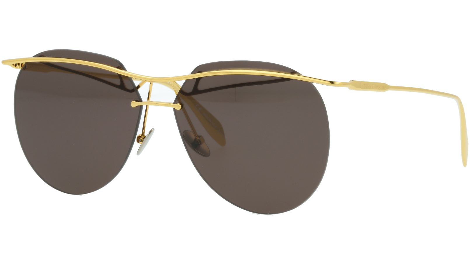 ALEXANDER MCQUEEN AM0155SA 004 60 GOLD Sunglasses