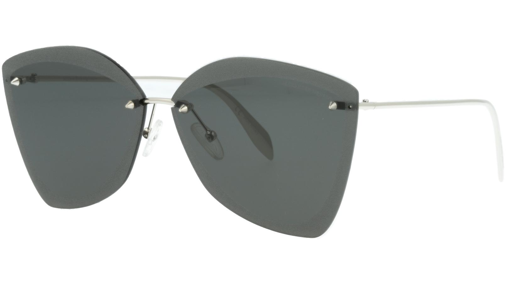 ALEXANDER MCQUEEN AM0119SA 001 64 SILVER Sunglasses
