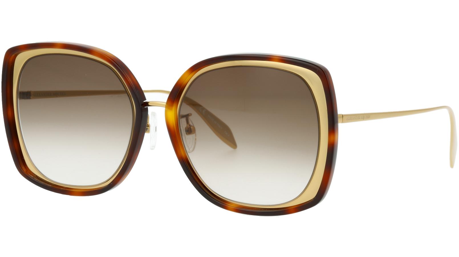 ALEXANDER MCQUEEN AM0151S 003 57 GOLD Sunglasses