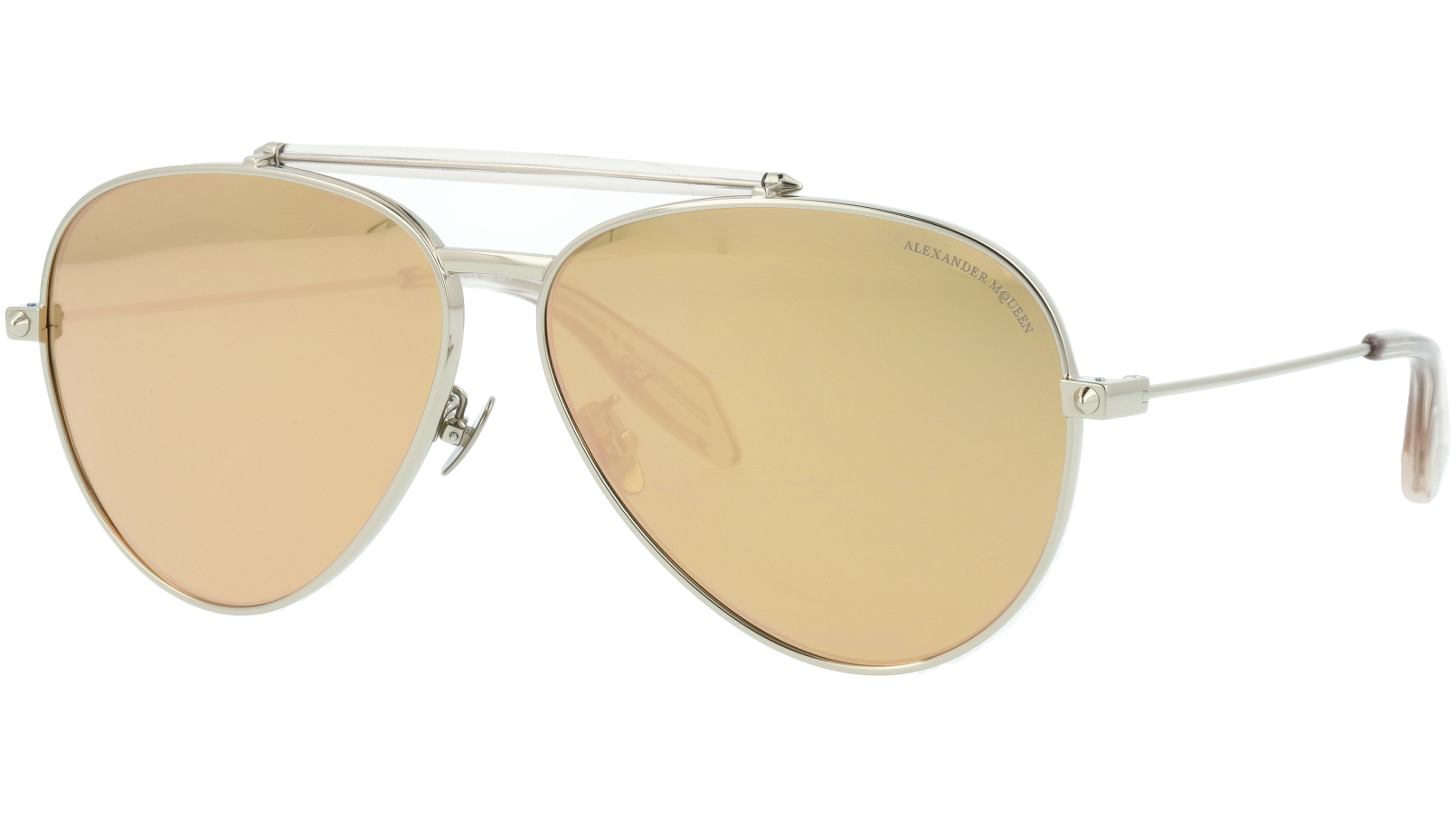 ALEXANDER MCQUEEN AM0057S 005 52 SILVER Sunglasses