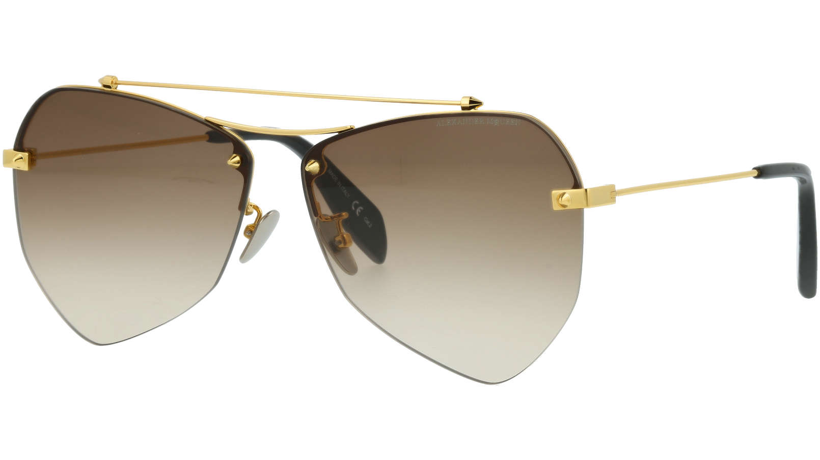 ALEXANDER MCQUEEN AM0121SA 003 61 GOLD Sunglasses