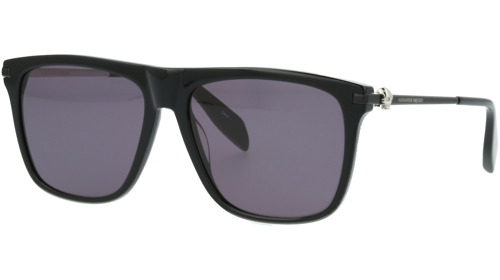 ALEXANDER MCQUEEN AM0106S 001 57 BLACK Sunglasses