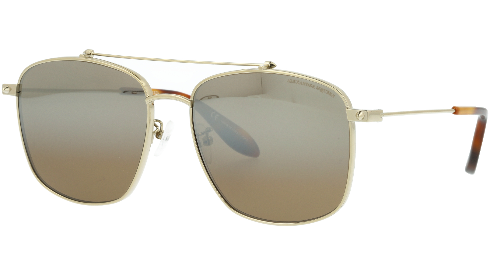 ALEXANDER MCQUEEN AM0124SK 003 59 GOLD Sunglasses