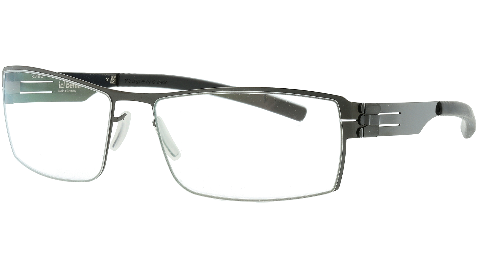ic! berlin Nufenen Medium Gun Metal Glasses