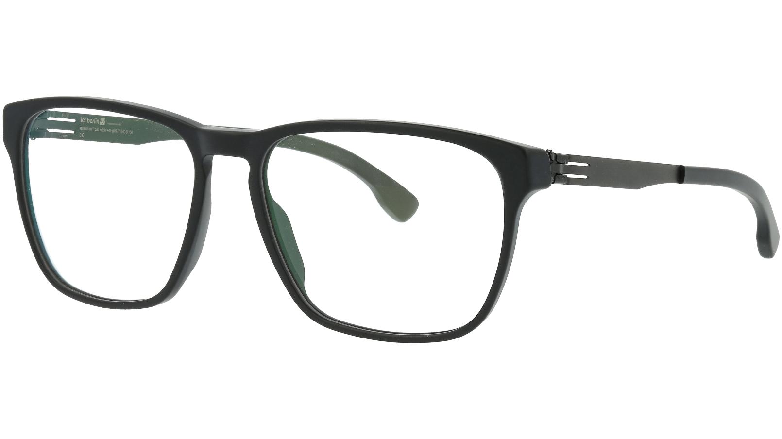ic! berlin Danny H Matt Black Full-Rim Glasses