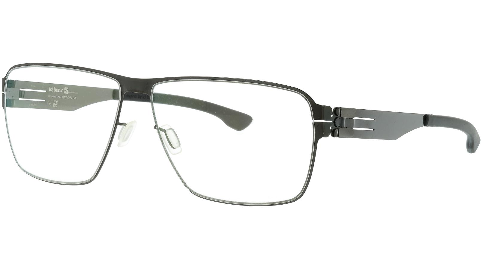 ic! berlin Thorsti S Gunmetal Black Glasses