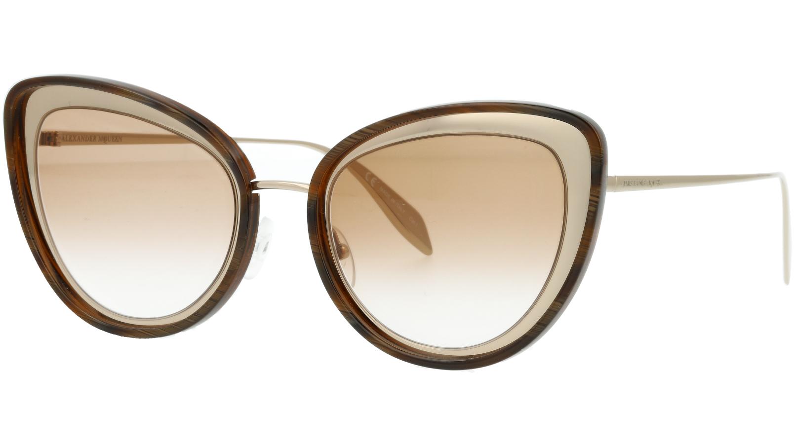 Alexander McQueen AM0177S 005 54 GOLD Sunglasses