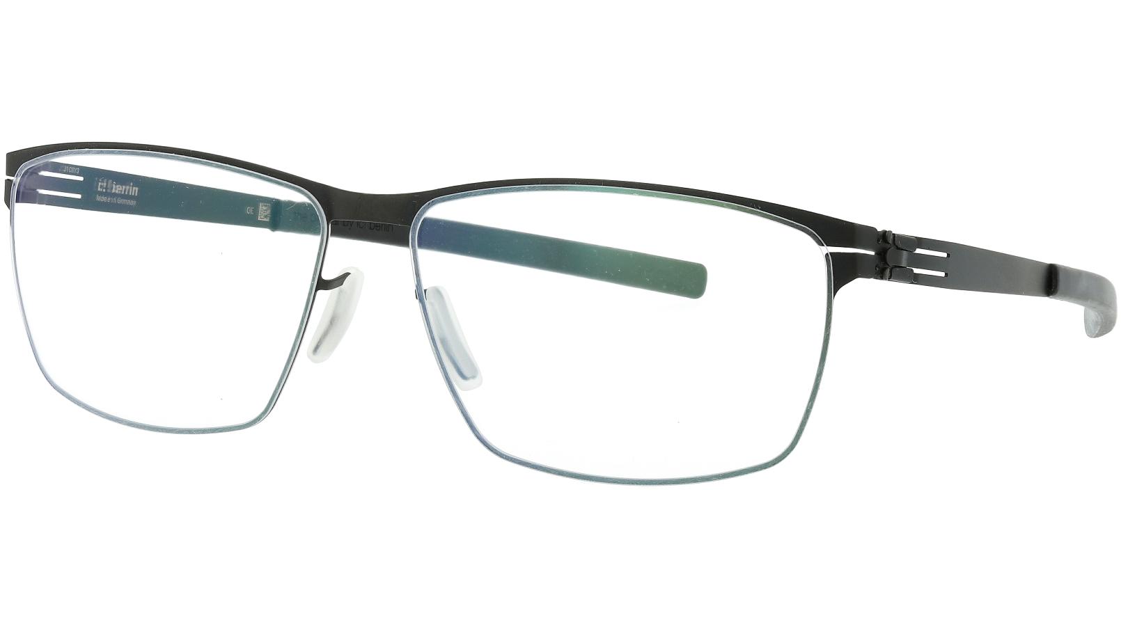 ic! berlin Sven H Black Rectangle Glasses