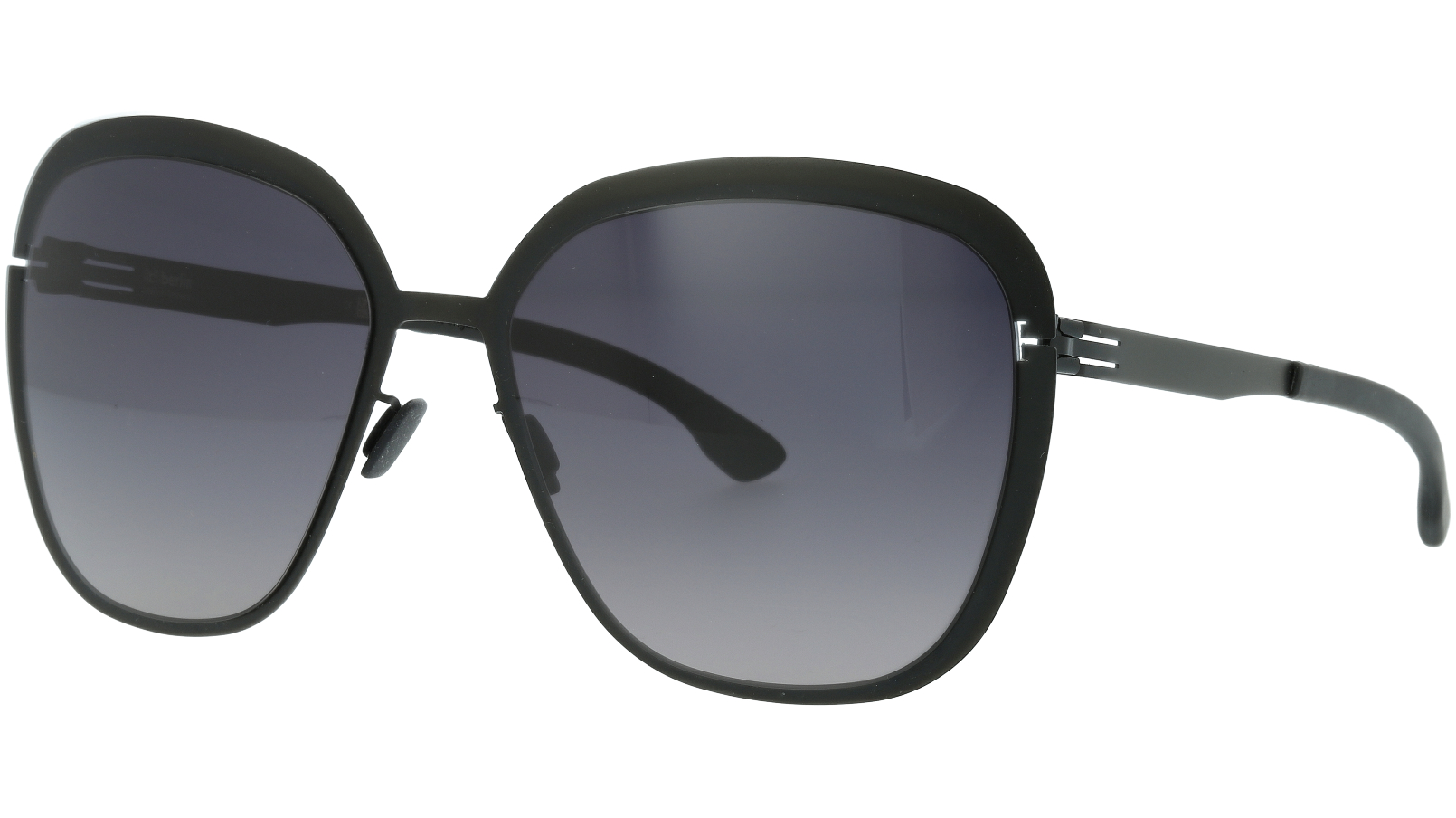 IC BERLIN! Grunewald Black Grey Sunglasses