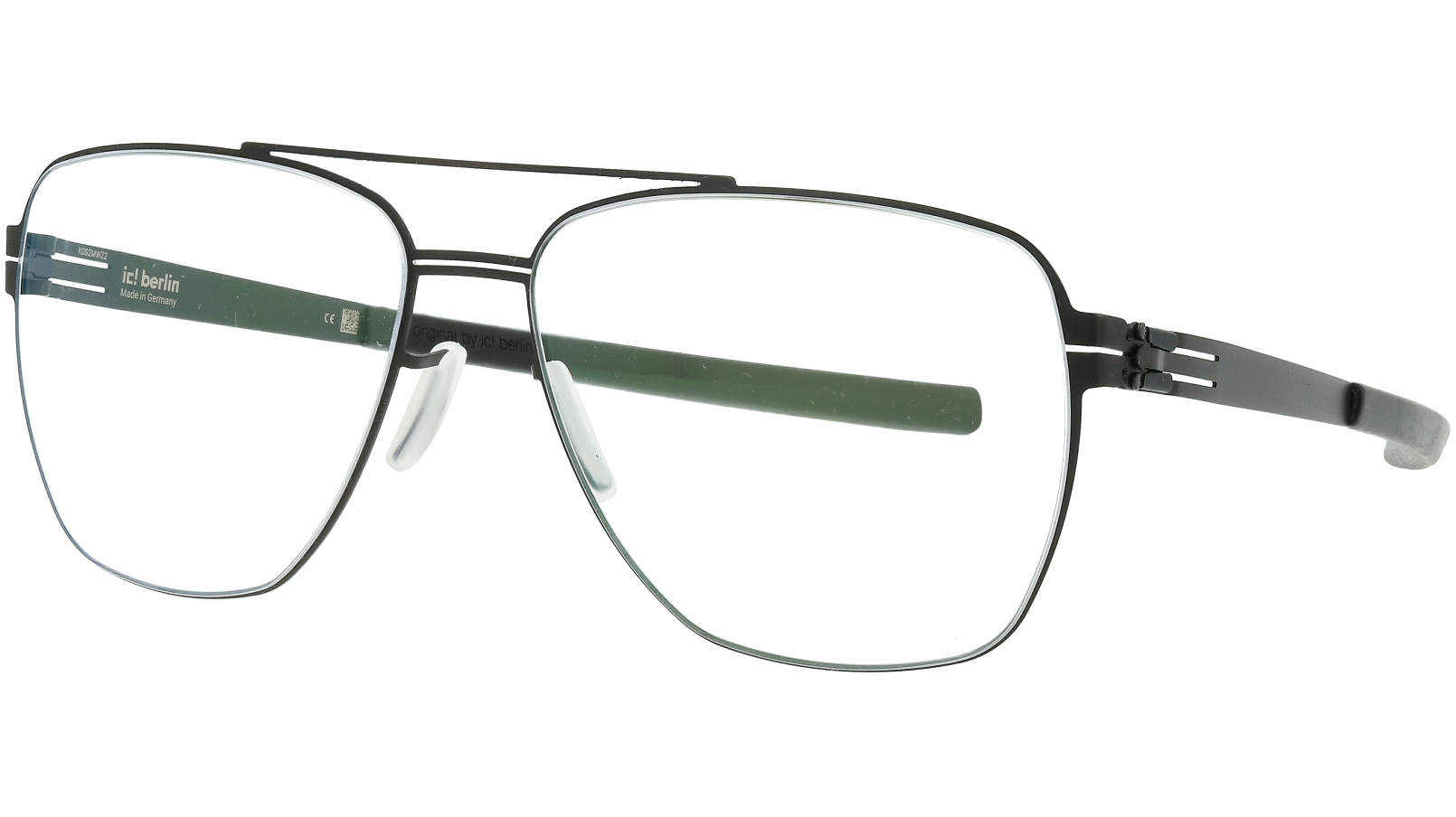 ic! berlin Francesca M Black Aviator Glasses