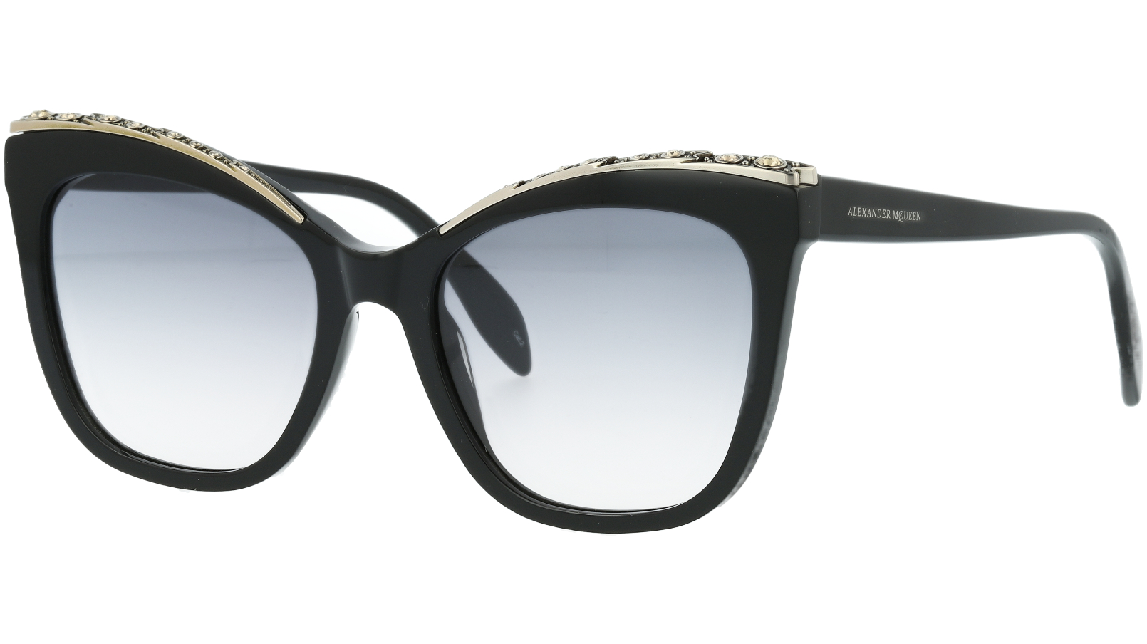 ALEXANDER MCQUEEN AM0182S 002 55 BLACK Sunglasses